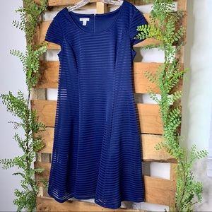 London Style | Blue A-Line Dress